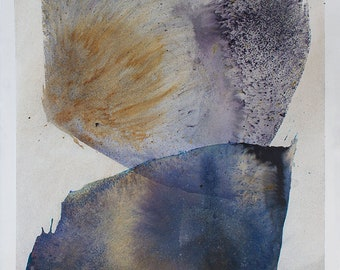 Large Watercolor - Original Abstract Art, Abstract shapes, Contemporary Art / Modern Painting / Wabisabi