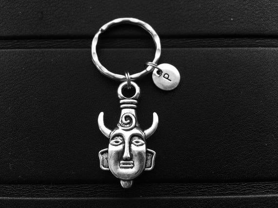 Dean Winchester Keychain Initial Keychain Amulet Keychain Etsy