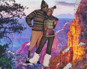 Black Love Art, Black Nature Collage, Cabin Fever, Afro Futurism, Black Man, Safe Space, Man Cave Art Print Poster