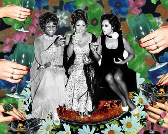Celia Cruz, Lola Flores, Salsa Queen, Olga Guillot, Latina Art, Afro Herstory Poster