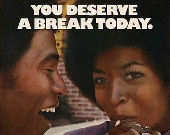 Black Joy, Black Ephemera, Maximalist Decor, Retro Inspired, You Deserve A Break Today, Vintage Ad Poster