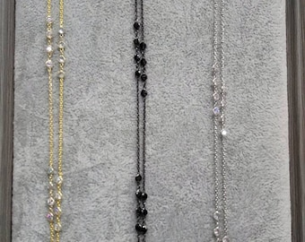 Long necklace with stones