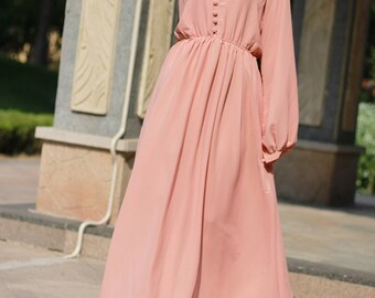 5ba25c9ce25 champagne maxi dress long sleeved maxi dresses chiffon dress