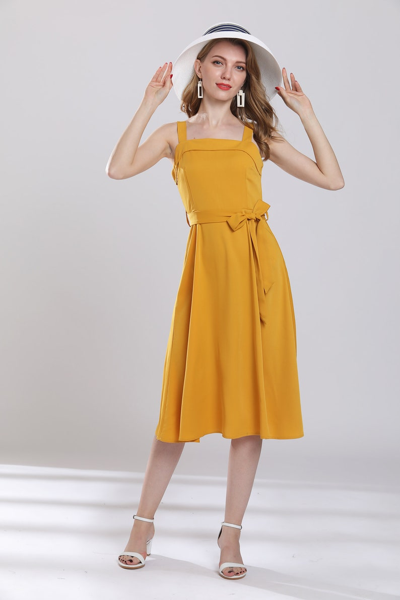 124c3e69c43c Vintage yellow maxi dress tunic summer dress fine chiffon | Etsy