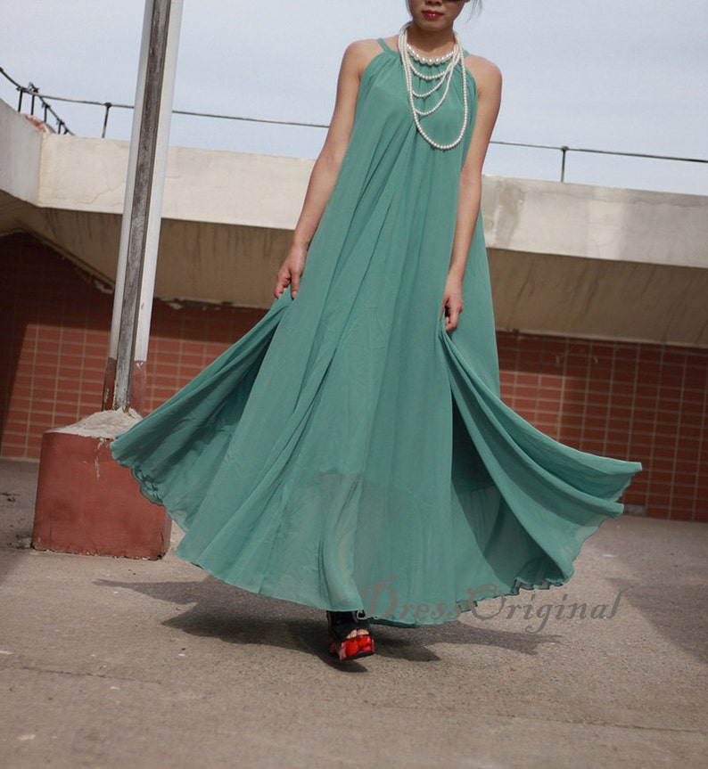 7e2fac73060 light blue Long chiffon dress Evening Wedding Party Dress Sundress Plus  Size Su... light blue Long chiffon dress Evening Wedding Party Dress  Sundress Plus ...