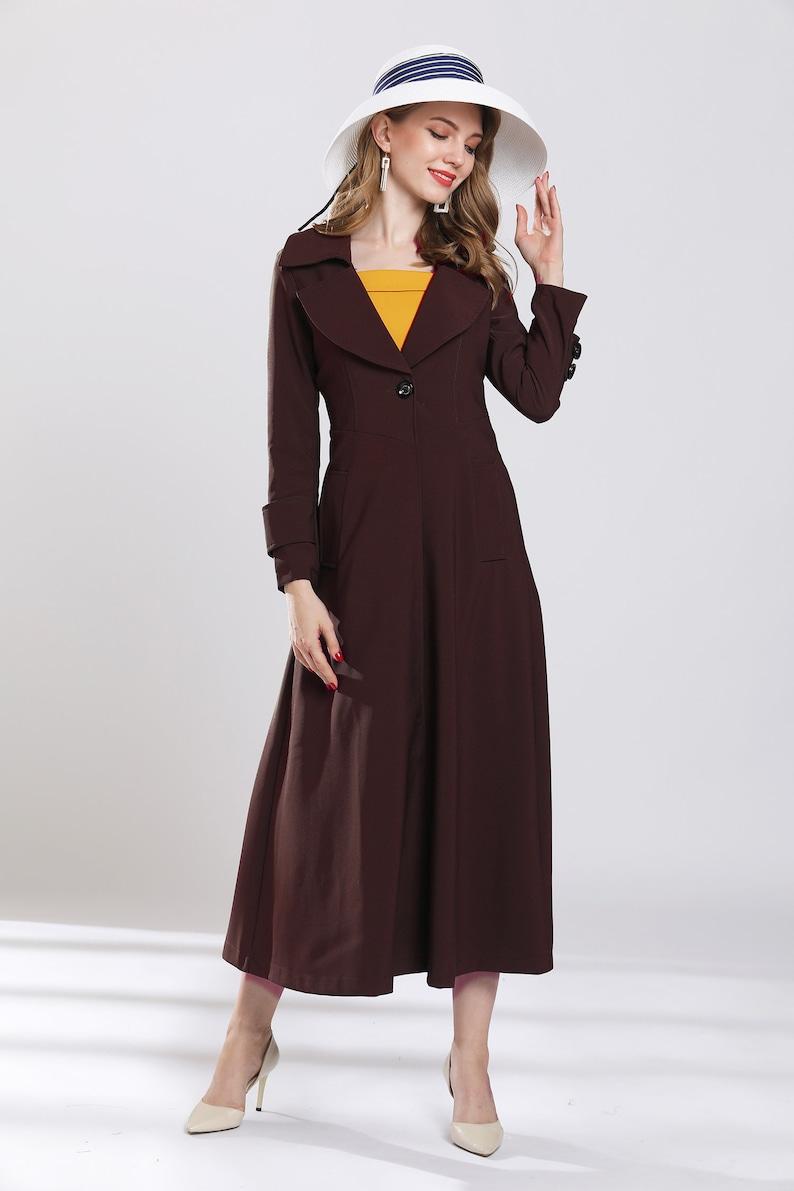 burgundy long maxi coats plus size trench coat wind breaker custom made  dress coat tunic jackets long outwear