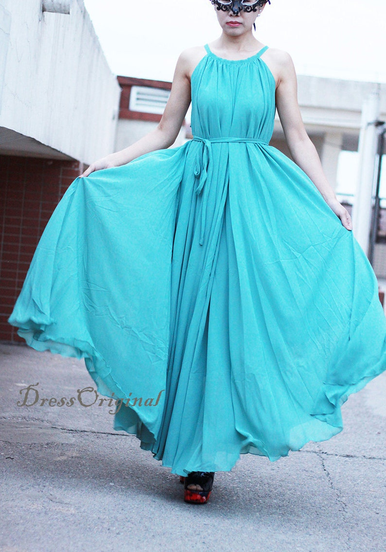 e99d17a648d Maxi dress  light blue Holiday Beach Dress Summer Sundress