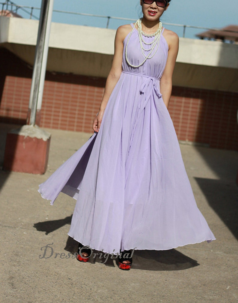 bcf3ac4a781 Plus size maxi dresses Lavender maxi dress Summer Dress