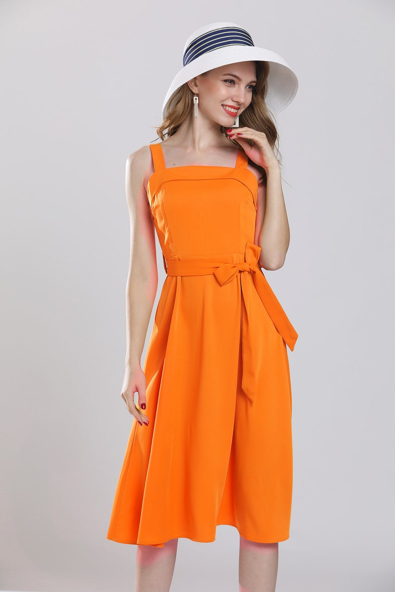 5f65c7fad13 Retro orange chiffon dress vintage plus size maxi dresses