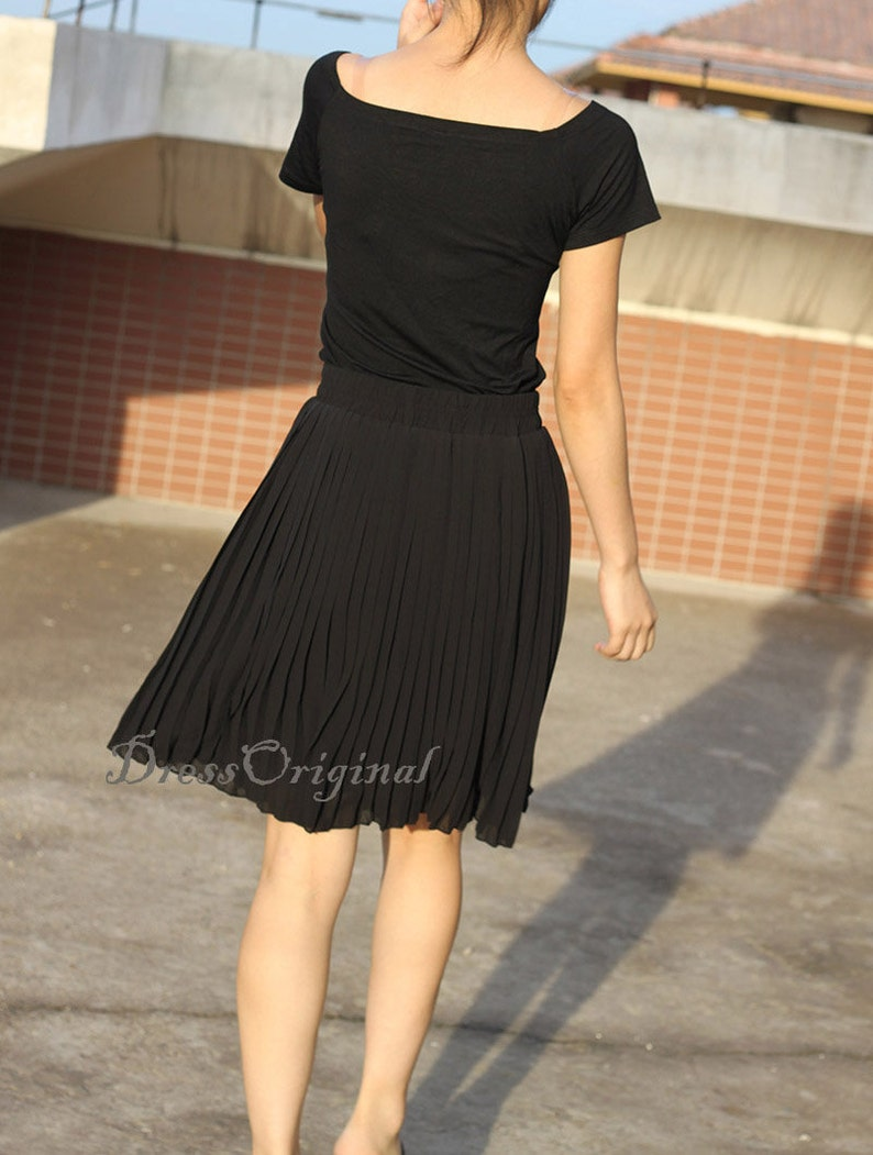 e7dc2a5ac Top quality black skirt black Pleated skirt black short | Etsy