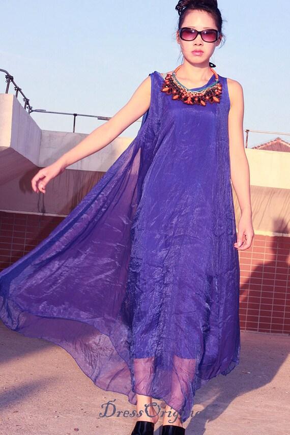 Royal Blue lässig Maxi-Kleid Urlaub Kleid blau plus Größe | Etsy