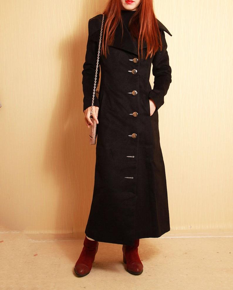 8350b58148c Black tunic long woolen coats plus size winter maxi coats long