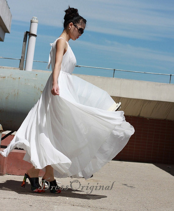 Plus Size Maxi Dress White summer dress Wedding Dress