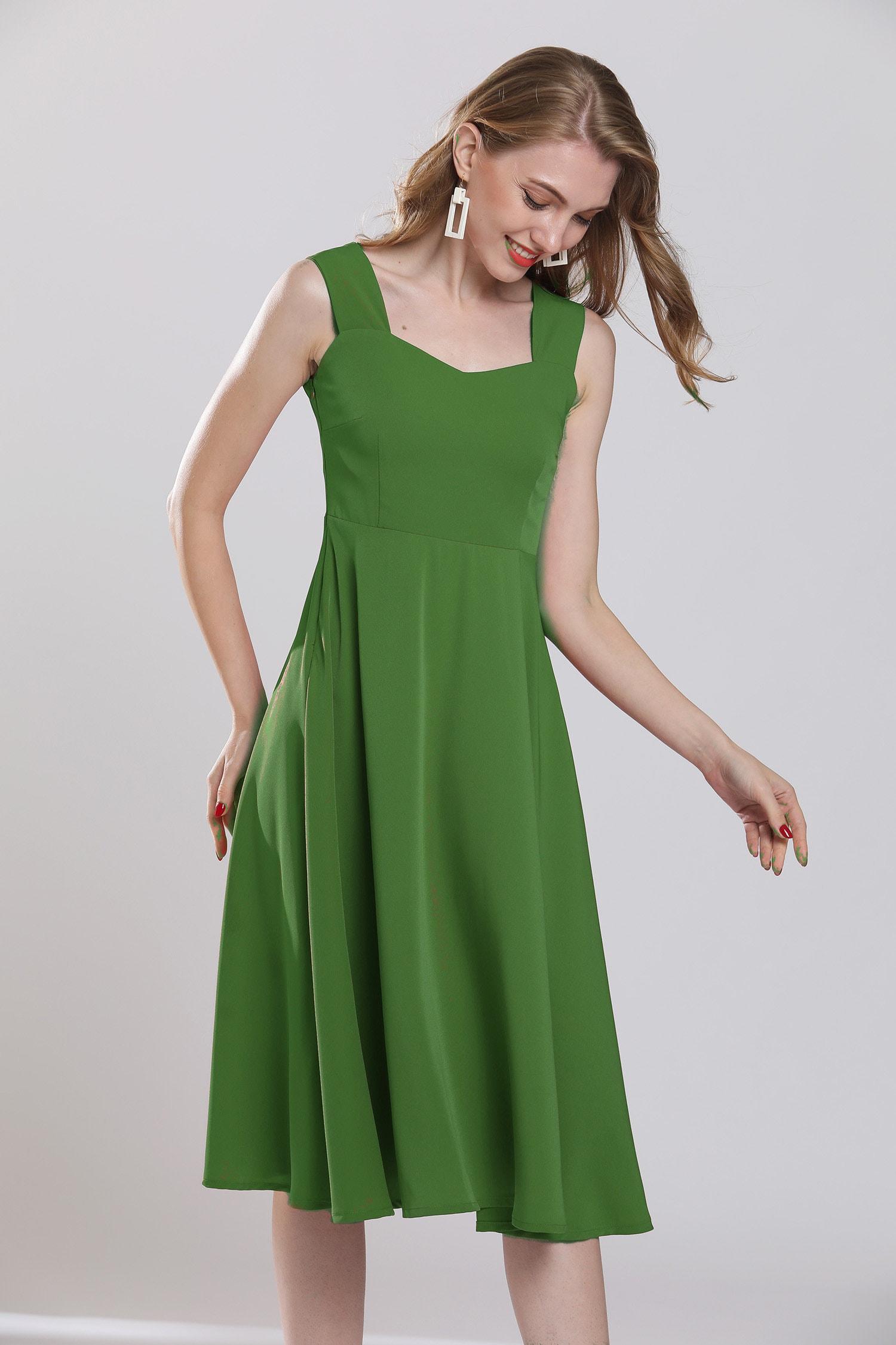 Jade green maxi dress plus size tunic chiffon dress beach sundress ankle  length tea dress evening dresses prom dress wedding dress