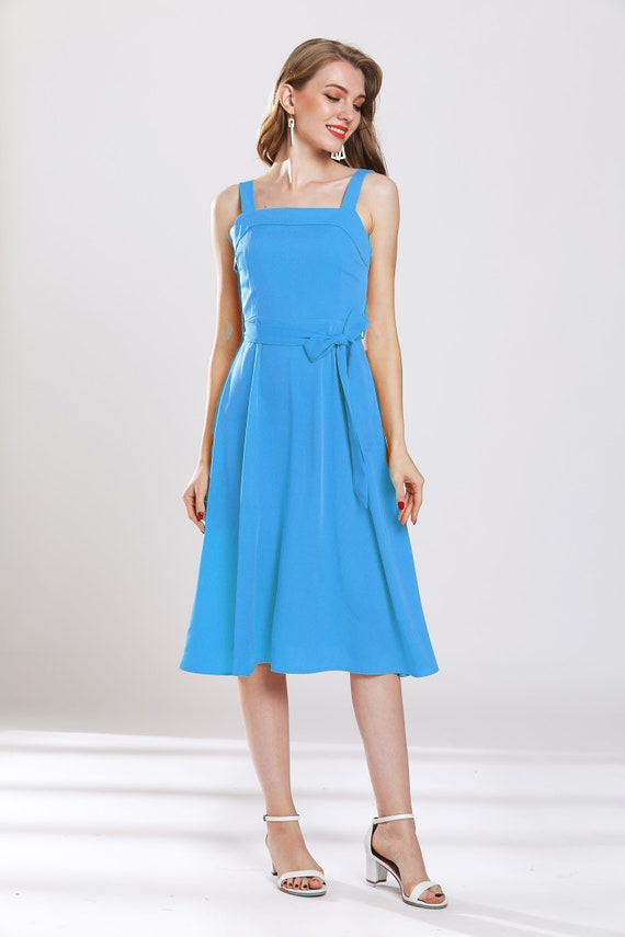 Himmel blau Kleid lang chiffon Kleid nach Maß Brautjungfer, Hochzeit Kleid Jahrgangs Urlaub Kleid Partei Kleid Prom Kleid plus Größe