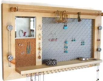 Hanging Jewelry Organizers by TheWoodenCorner on Etsy