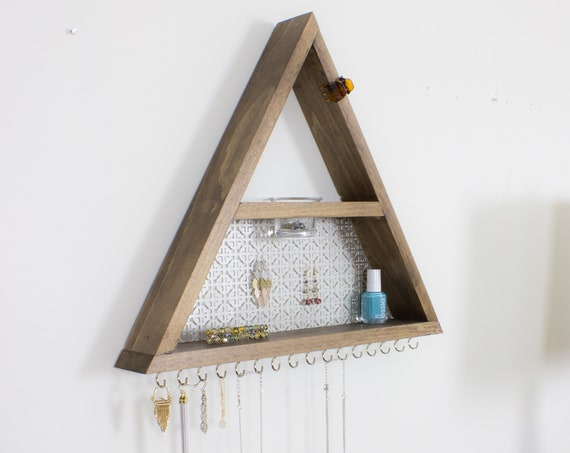 Triangle Jewelry Organizer with Glass Jar