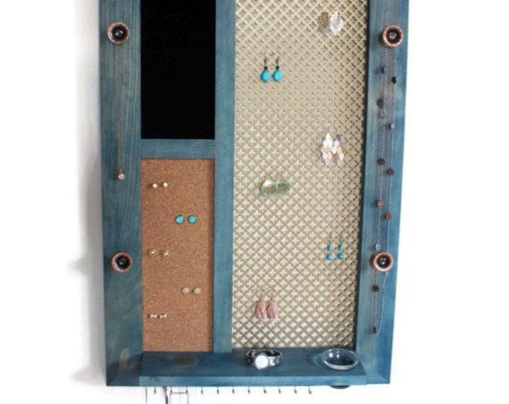 Vertical Jewelry Organizer - You pick the stain Color!