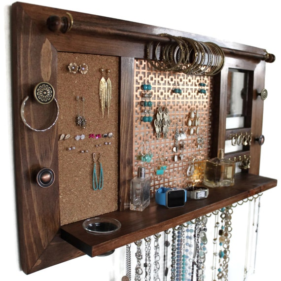 Deluxe Jewelry Organizer // Jewelry Display // Jewelry Holder // Jewelry Hanger // Ring Display // Earring Organizer