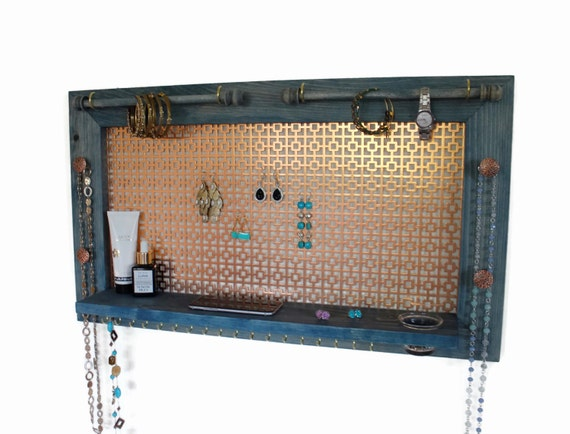 Ultimate Earring Display // Jewelry Shelf // Wall Mounted Jewelry Organizer //  Jewelry Display // Wall Hanging Jewelry Board