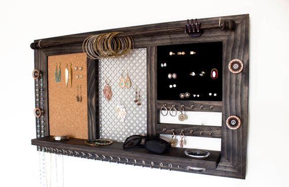 Deluxe Wall Hanging Jewelry Organizer // Jewelry Display // Jewelry Holder