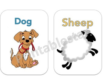 Learn Your Animals Flash Cards