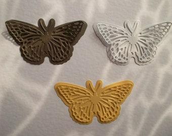 butterfly die cuts, paper die cuts, paper butterflies, paper butterfly die cuts, metallic butterflies, cut outs