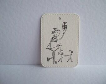 gift tag, handmade tag, birthday tag, geschenk label, verjaardag label, verjaardag meisje, birthday girl, cute tag