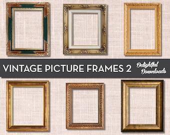 antique picture frames. Antique Vintage Picture Frame Clip Art - VOL 2 For Digital Collage,  Scrapbooking, Cards, Prints Antique Picture Frames