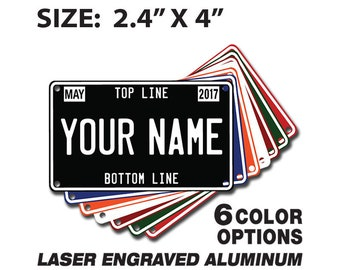 BASKETBALL MINI LICENSE PLATE Any Name Personalized for Kids Bikes Wagons Wall