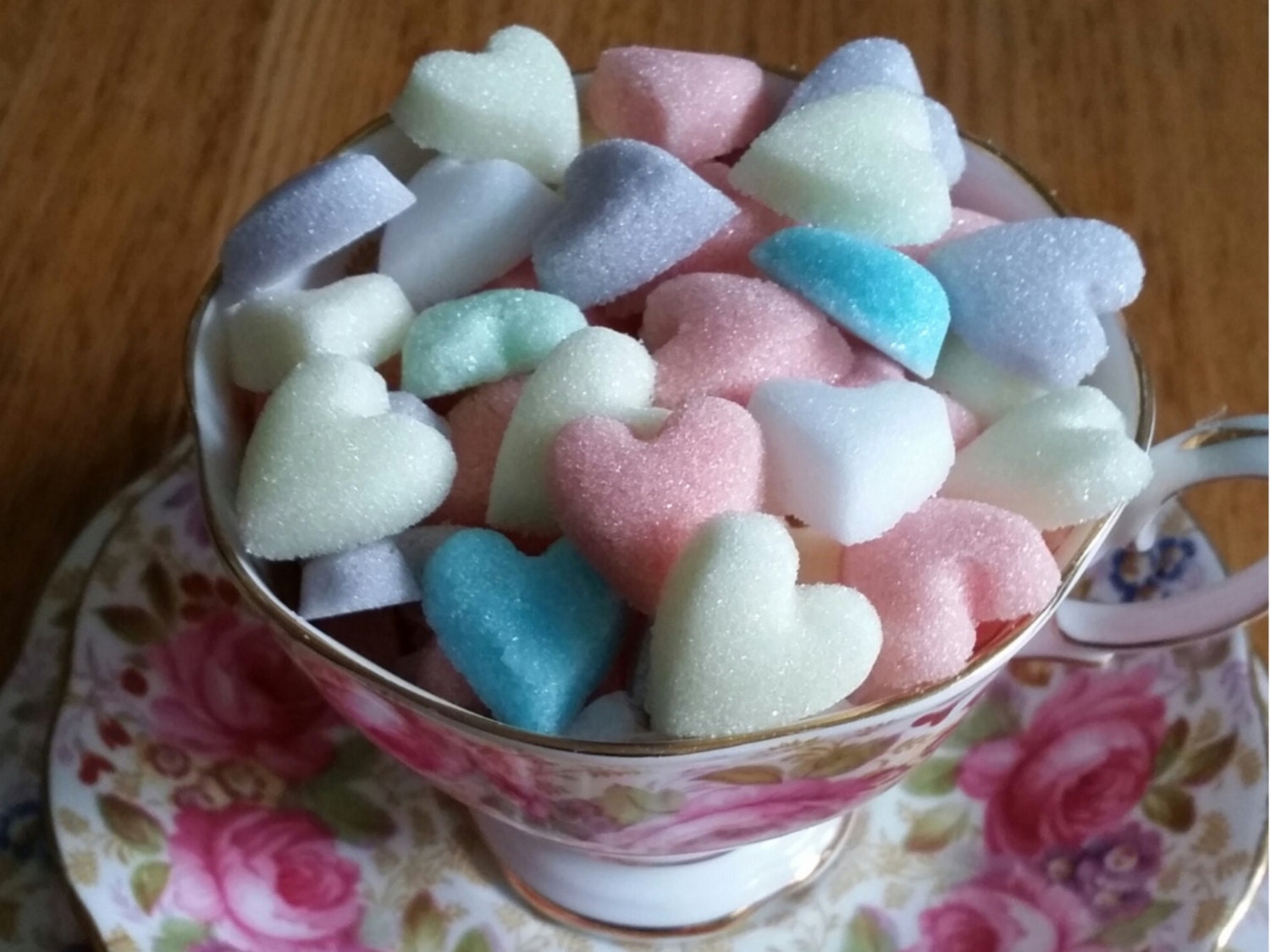 20 Heart Shaped Sugar Cubes in Mixed colours