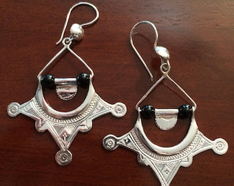08c77aed7 Handmade Sterling Silver Khomeisa Earring West African Tuareg Niger