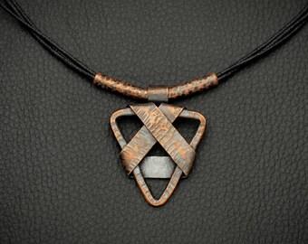 Copper Necklace Pendant Rough Copper Jewelry