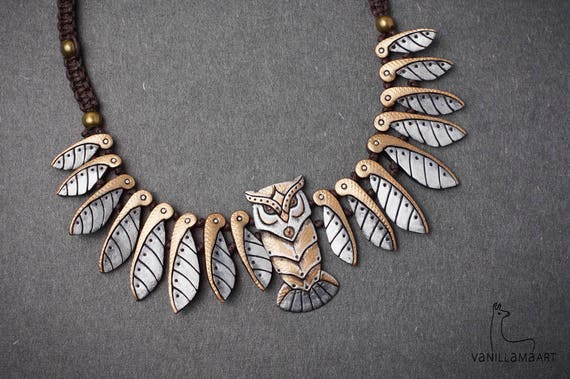Rusty Steampunk Metallic Owl Necklace Animal Totem MADE TO ORDER