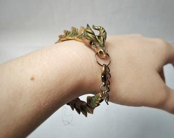 Dragon Bracelet Forest Dragon Fantasy Dragons Jewelry Woodland Fantastic