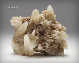 137 Gram Calcite Crystal Spears On White Calcite Mineral Specimen
