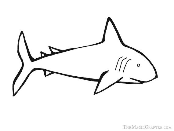 PRINTABLE COLORING PAGES: Downloadable Shark Coloring Sheet for Kids & Adults- Great for Pirate Themed Birthday Parties and Mermaid Events