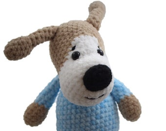 Crochet Puppy Amigurumi Puppy Plush Stuffed Puppy Crochet Dog Amigurumi Dog Plush Cute Dog Plushie