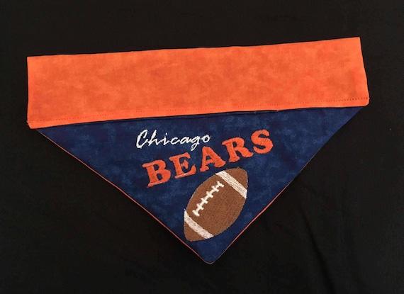2ba3ef180c1 Chicago Bears / Over the Collar Cat Bandana / Personalized | Etsy