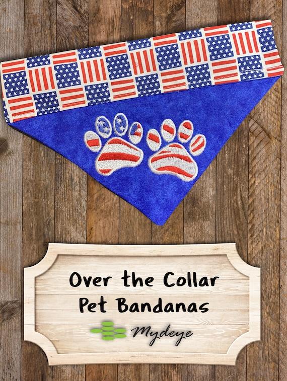 free domestic shipping Lime green Cat bandana SpringSummer- Memorial Day Fourth of July 4th Seersucker Peach Dog Bandana