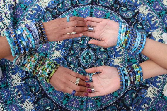 Wholesale Nepal Bracelets Beaded Roll On Bracelets Assorted Etsy