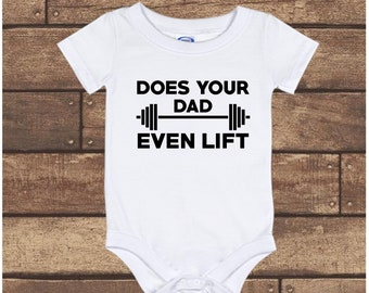 I Get My Muscles From My Daddy Weight Lifting Cute Boys Girls Baby Vest Bodysuit