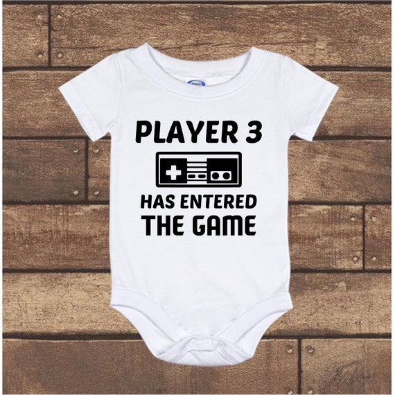 bc0d41c2f5f Player 3 has entered the Game Video Game baby Onesie bodysuit infant  Pregnancy Announcement long sleeve short sleeve Newborn to 24 Months