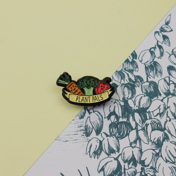 Plant Pals Enamel Pin Vegan Vegetarian Vegetables