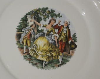 Vintage Plate - 22 Karret Gold Trim - Martha Washington Plate - Harker Pottery - Collectible Dinnerware - Decorative Plate
