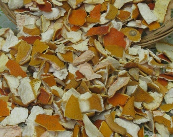 Dried Orange Peel - Naturally Dried Citrus Rind - Tangerine Peel - Citrus Potpourri - Soap or Candle Making Supply - Home Decor & Fragrance
