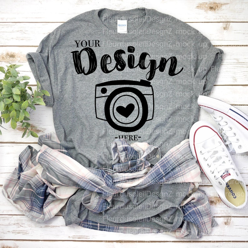 f3c1e8d5a Gildan 500 tshirt mockup Gildan 500 Graphite Graphic T Shirt | Etsy