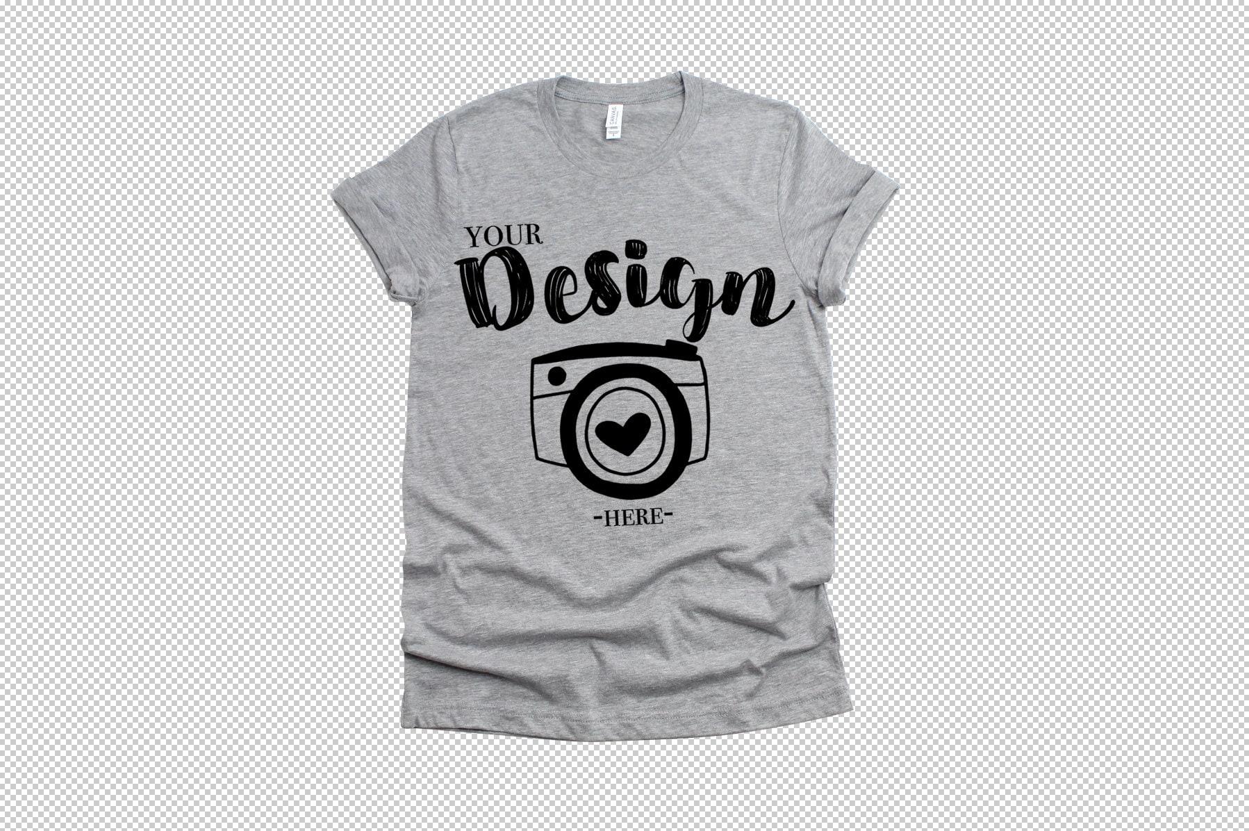 Png Bella Canvas 3001 Athletic Heather Mockup Unisex T Shirt Etsy
