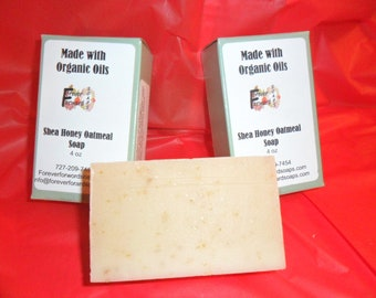 Shea Honey Oatmeal Soap with Organic oils