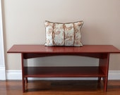 Antiqued Sitting Bench, Storage Bench, Entryway Bench with Shelf Custom Colors and Sizes Available